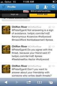 Tweet from Chiffon
